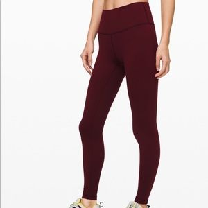 "Lululemon Wunder Under High Rise 28"" Tight Garnet"